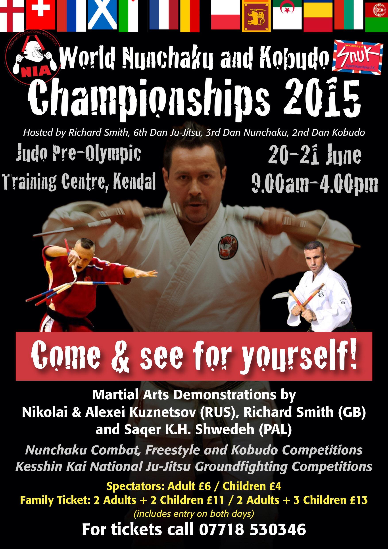 World Nunchaku-Kobudo and Ju-Jitsu Championships 20th-21st June 2015